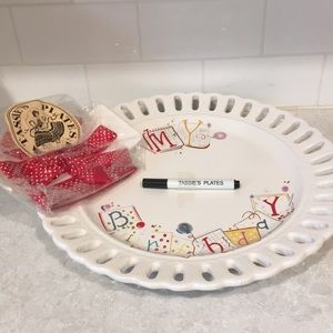 Birthday Platter with Writable Surface